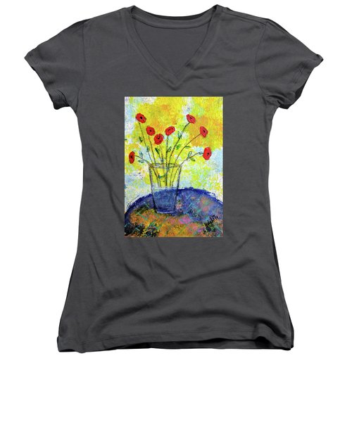 Red Roses For You Women's V-Neck T-Shirt