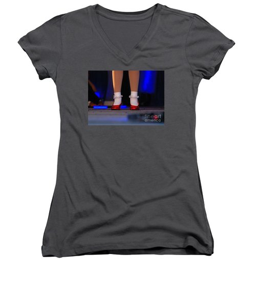 Red Shoes Women's V-Neck T-Shirt