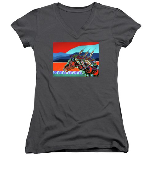 Red Sky Women's V-Neck (Athletic Fit)