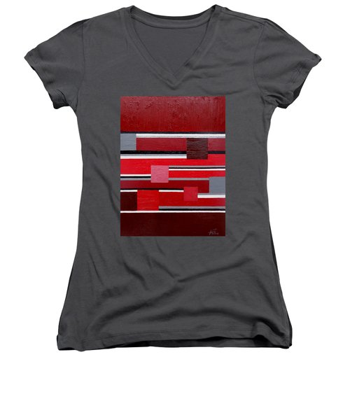 Red Square Women's V-Neck (Athletic Fit)