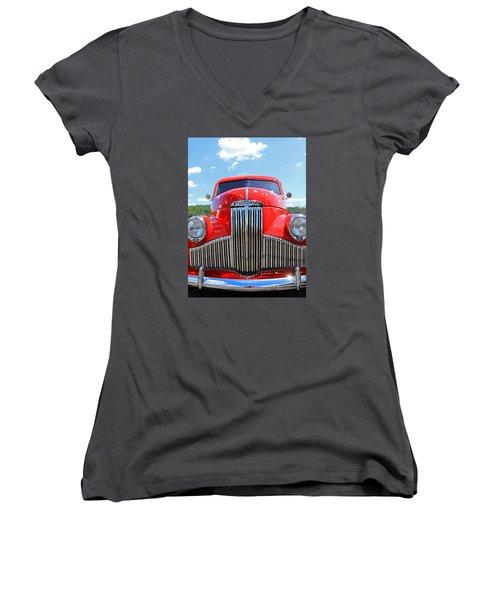 Red Studebaker Women's V-Neck
