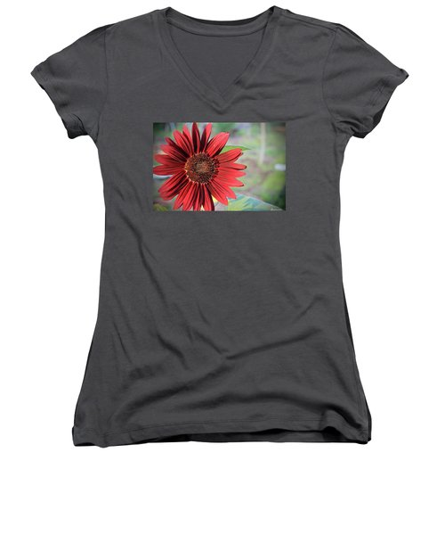 Red Sunflower Women's V-Neck