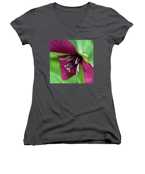 Red Trillium.. Women's V-Neck