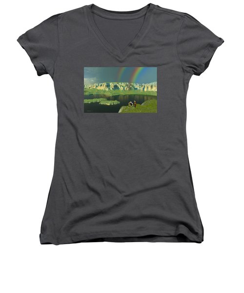 Redemption For An Angry Sky Women's V-Neck