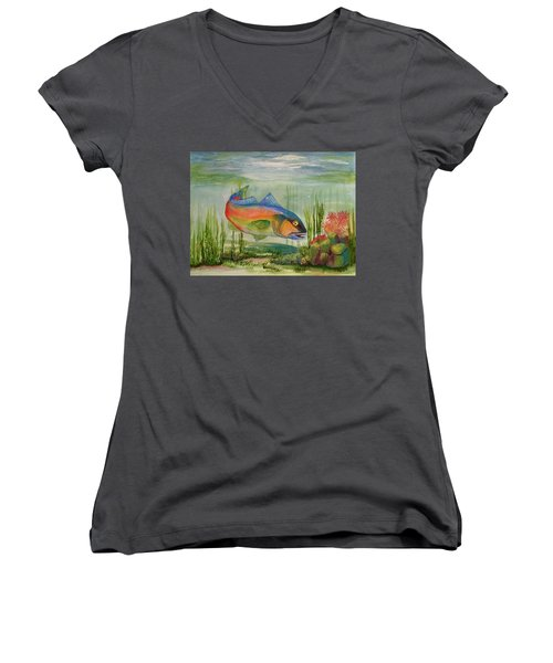 Rainbow Fish Women's V-Neck T-Shirt