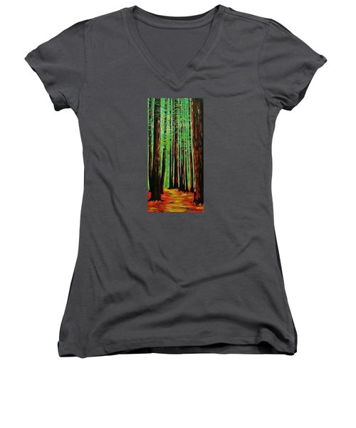 Redwoods Majestic 2 Women's V-Neck T-Shirt