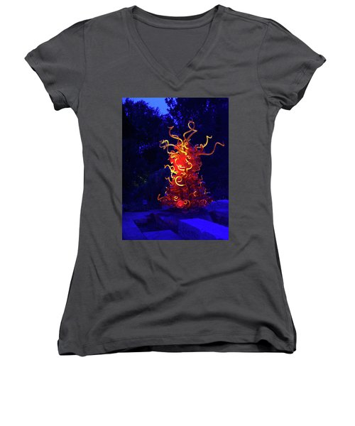 Redyellowbluenight Women's V-Neck T-Shirt