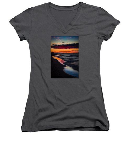 Reflect On This Women's V-Neck T-Shirt (Junior Cut) by Peter Scott