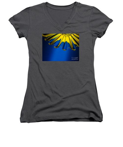 Women's V-Neck T-Shirt (Junior Cut) featuring the photograph Reflected Light by Trena Mara