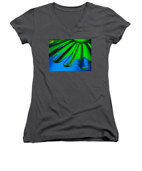 Women's V-Neck T-Shirt (Junior Cut) featuring the photograph Reflected by Trena Mara