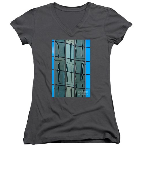 Women's V-Neck T-Shirt (Junior Cut) featuring the photograph Reflecting Eagle 1 by Werner Padarin