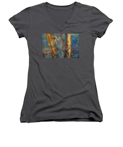 Reflecting Gold Tones Women's V-Neck T-Shirt