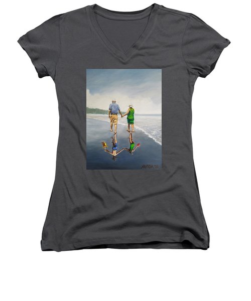 Reflecting Happiness Women's V-Neck T-Shirt