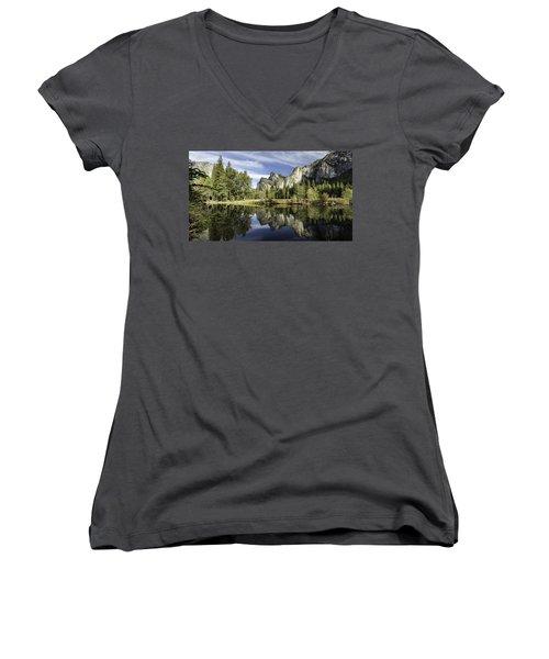 Reflecting On Yosemite Women's V-Neck