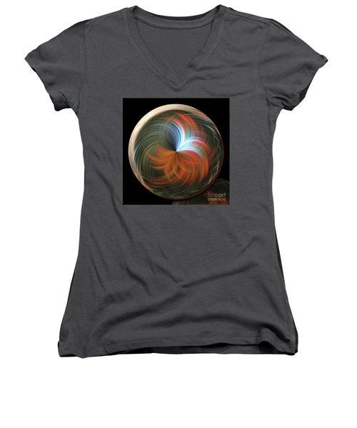 Reflecting Orb Women's V-Neck T-Shirt