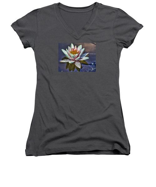 Reflecting Petals Women's V-Neck (Athletic Fit)