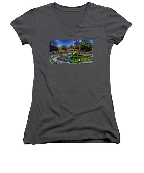 Reflecting Pool At Colonial Park Women's V-Neck