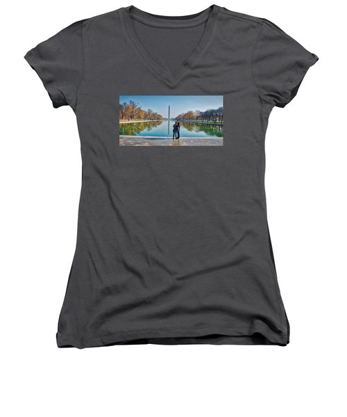 Reflecting Pool Women's V-Neck (Athletic Fit)