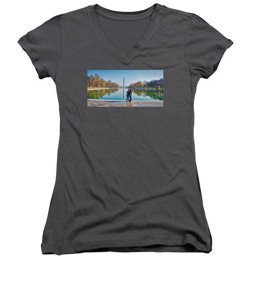 Reflecting Pool Women's V-Neck T-Shirt