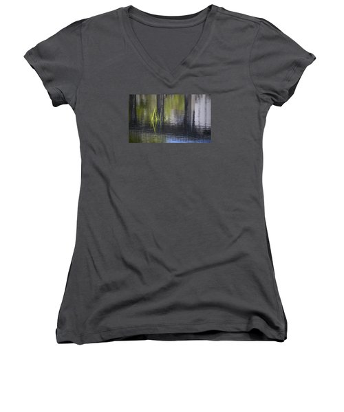 Reflections Accents Women's V-Neck T-Shirt (Junior Cut) by Morris  McClung