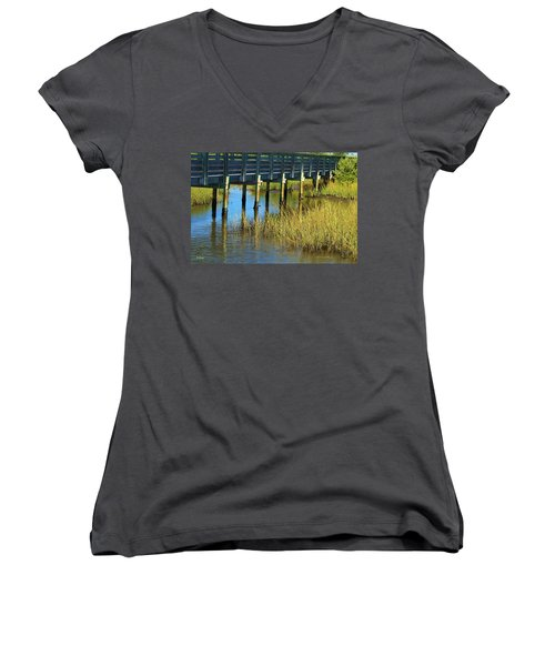 Reflections And Sea Grass Women's V-Neck (Athletic Fit)
