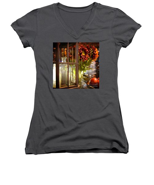 Reflections In A Glass Bottle Women's V-Neck T-Shirt