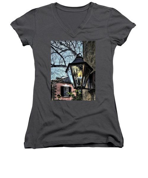 Women's V-Neck T-Shirt (Junior Cut) featuring the photograph Reflections Of My Life by Jim Hill