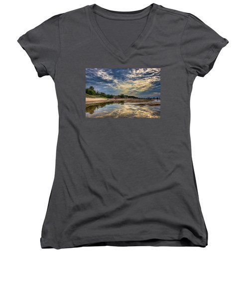 Reflections On The Beach Women's V-Neck (Athletic Fit)