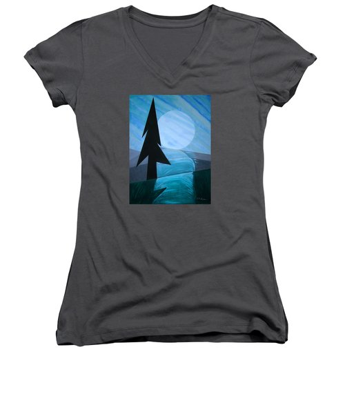 Reflections On The Day Women's V-Neck T-Shirt (Junior Cut) by J R Seymour