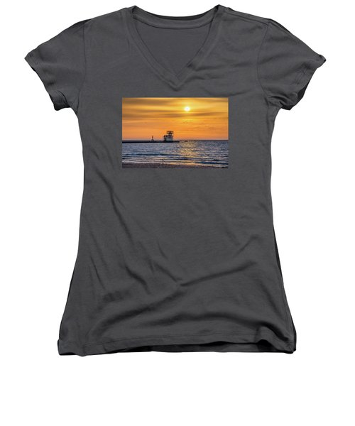 Women's V-Neck T-Shirt (Junior Cut) featuring the photograph Rehabilitation Rising by Bill Pevlor