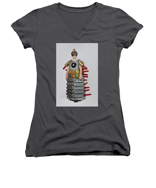 Reilly In Frank The Amazing Bugatron 2000 Women's V-Neck