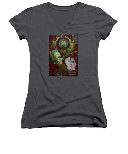 Reincarnate Women's V-Neck T-Shirt (Junior Cut) by Carol Jacobs
