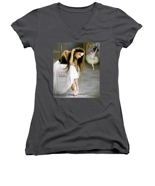 Reincarnated Of A Star Women's V-Neck (Athletic Fit)