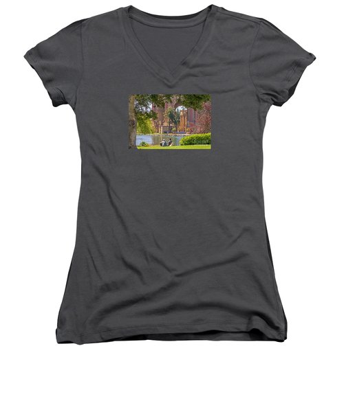 Relaxing At The Palace Women's V-Neck