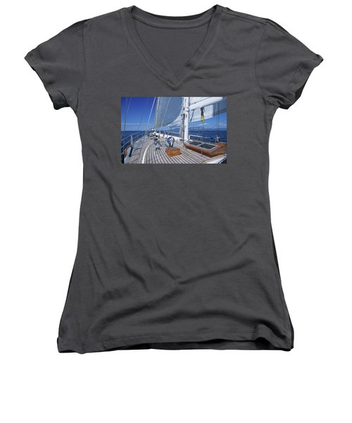 Relaxing On Deck Women's V-Neck