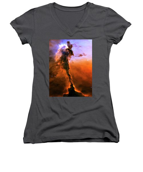 Release - Eagle Nebula 2 Women's V-Neck T-Shirt