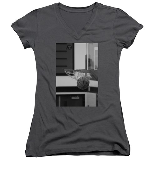 Women's V-Neck T-Shirt (Junior Cut) featuring the photograph Release From The Net by Laddie Halupa