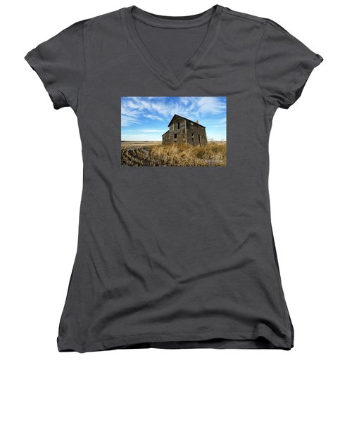 Women's V-Neck T-Shirt (Junior Cut) featuring the photograph Remember The Past Work For The Future 2 by Bob Christopher