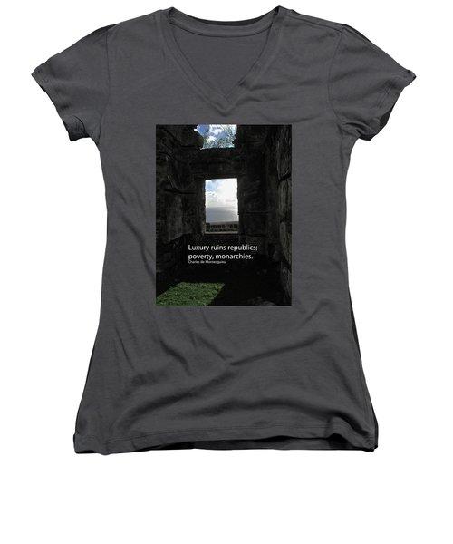Republics And Monarchies Women's V-Neck T-Shirt (Junior Cut) by Ian  MacDonald