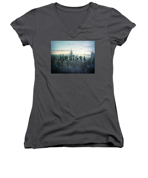 Resistance Foggy Window Women's V-Neck