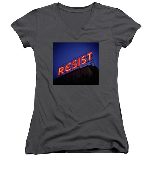 Resistance Neon Lights Women's V-Neck