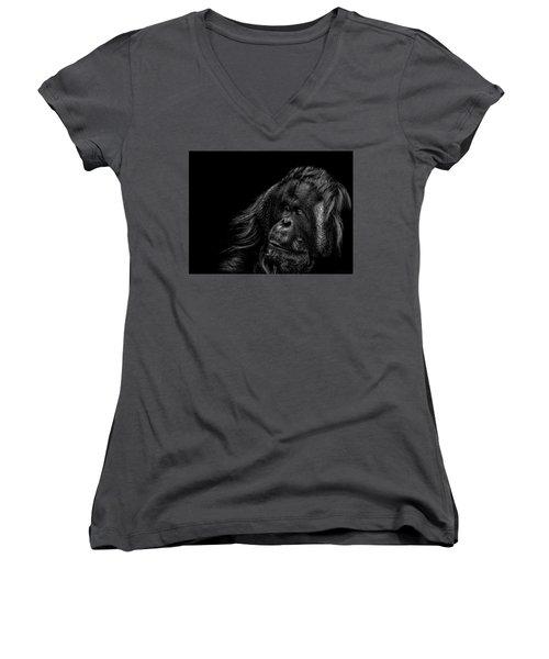 Respect Women's V-Neck T-Shirt (Junior Cut) by Paul Neville