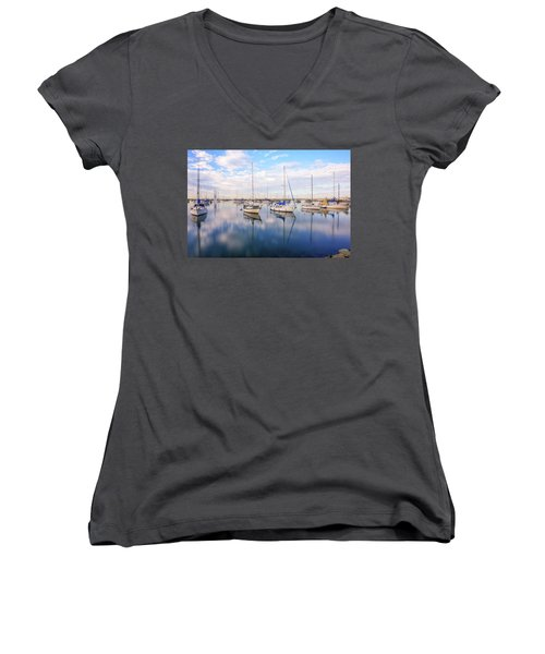 Resting On Glass Women's V-Neck (Athletic Fit)