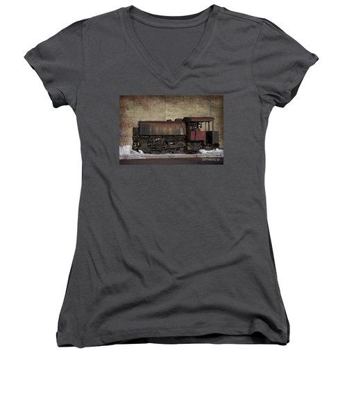 Retired 2 Women's V-Neck T-Shirt (Junior Cut) by Judy Wolinsky