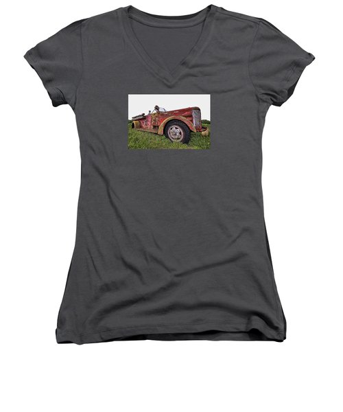 Retired Hero Women's V-Neck (Athletic Fit)