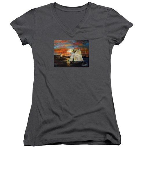 Returning Home Women's V-Neck T-Shirt