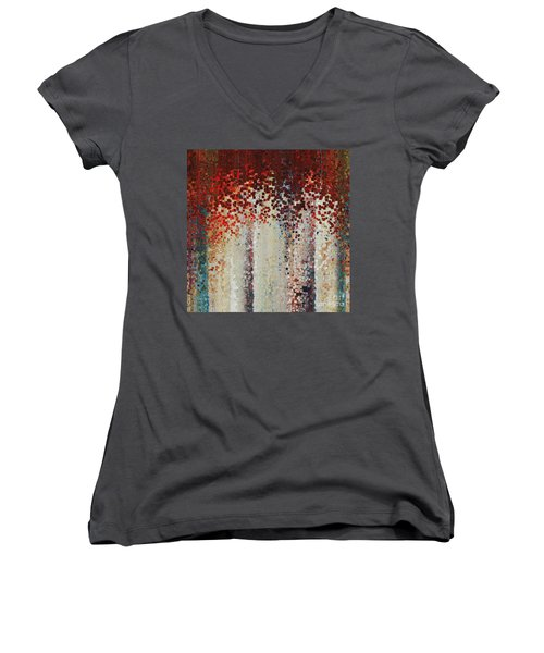 Revelation 1 7. Do You See Jesus In Your Clouds? Women's V-Neck T-Shirt