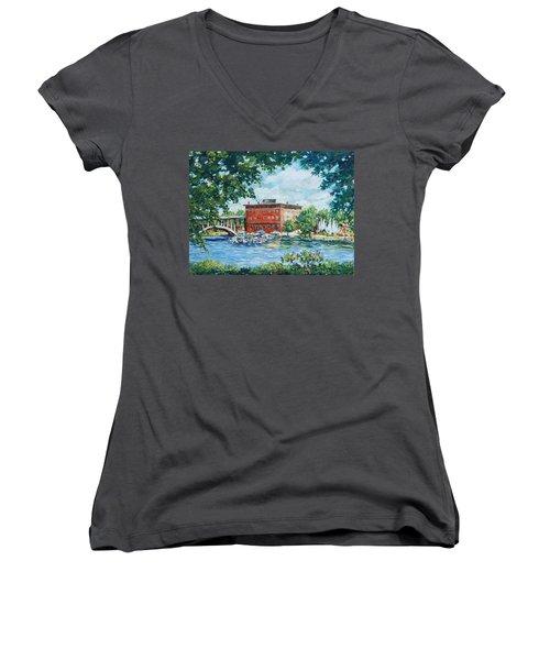 Rever's Marina Women's V-Neck T-Shirt (Junior Cut) by Alexandra Maria Ethlyn Cheshire