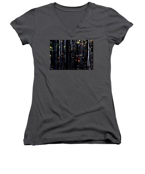Rhythm Of Leaves Falling Women's V-Neck T-Shirt (Junior Cut) by Bruce Patrick Smith