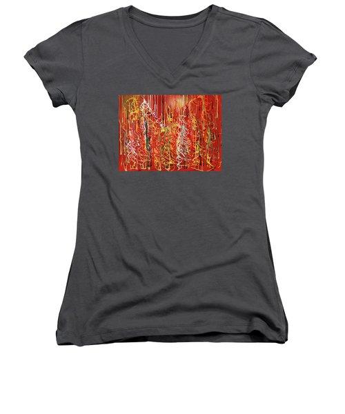 Rib Cage Women's V-Neck T-Shirt (Junior Cut) by Ralph White